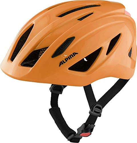 ALPINA Unisex - Kinder, PICO FLASH Fahrradhelm, neon orange gloss, 50-55 cm