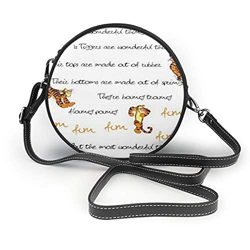 XCNGG Monedero pequeño para teléfono celular Tigger Styles Leather Shoulder Bag Travel Daypack Women Girls Party Gift