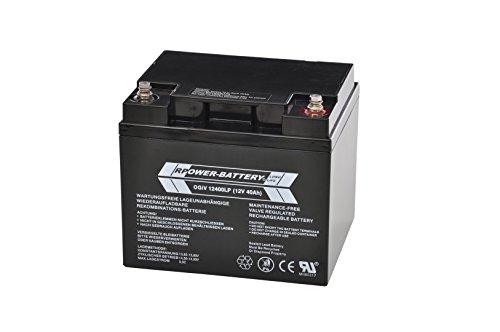 12V 40Ah RPower AGM Batterie / Bleiakku USV Akku Notstrom Notlicht Bleibatterie