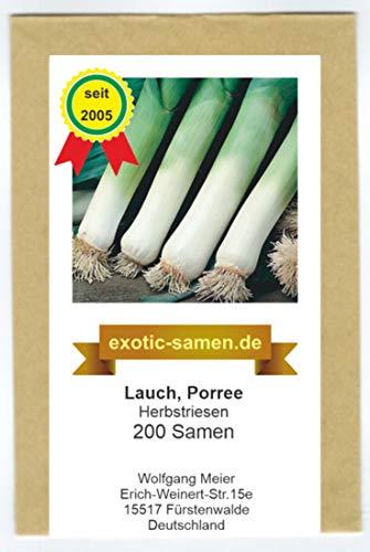 Lauch, Porree - Herbstriesen - 200 Samen