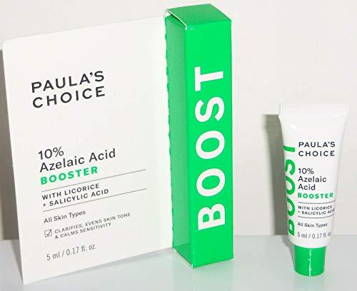 Paula's Choice 10 % Azelasäure-Booster mit Lakritz und Salicylsäure (klärt Flecken und Hautunreinheiten, gleicht den Hautton aus, beruhigt die Empfindlichkeit).