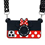12 Pro Max Case for iPhone 12 Pro Max Case Cute 3D Cartoon Minnie Mouse Camera Teens Girls Women Shockproof Protective Silicone Cover Cute Phone Cases for iPhone 12 Pro Max -6.7' (12 Pro Max-6.7')