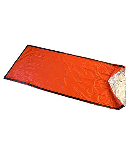 HWCP.CP Sac De Couchage Extérieur Étanche Léger De Survie pour Le Camping en Plein Air Et La Randonnée, Orange - Paquet De 2
