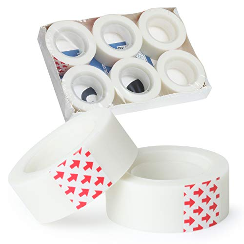 Mr. Pen- Tape, 6 Rolls, Tape Refill, Office Tapes, Tape Rolls, Tapes, Transparent Tape, Clear Tape, Invisible Tape, Tape Clear, Tape Despenser, Tape Bulk, Office Supplies, Desk Tape, School Tape
