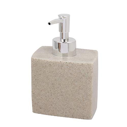 New Lon0167 400 ml Destacados Resina Baño Jabón eficacia confiable Loción Bomba Dispensador Prensa Botella Gris Arena Color(id:b83 f7 15 9e8)