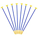 TOYANDONA 8Pcs Flèches de Remplacement pour Enfants Arc Flèches en Plastique avec Ventouses Tir à Larc Fournitures de Sport pour Garçons Filles