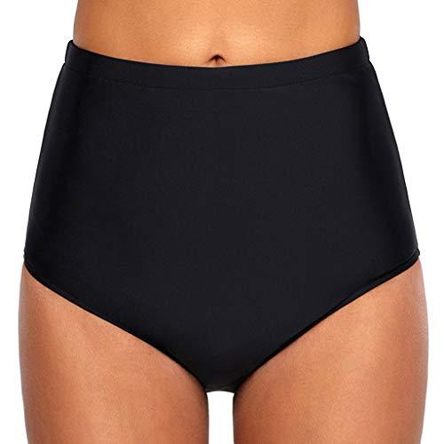 Mujeres Bikini de Cintura Alta Pantalones Cortos Traje de baño Deportes Acuáticos Shorts de Natación Secado Rápido Bañador Bragas para Playa Piscina riou
