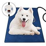 jiaboyu Pet Heating Pad, Upgraded Dog Cat Electric Heating Pad Waterproof Adjustable Warming Mat, Pet Heat Blanket with Chew Resistant Steel Cord
