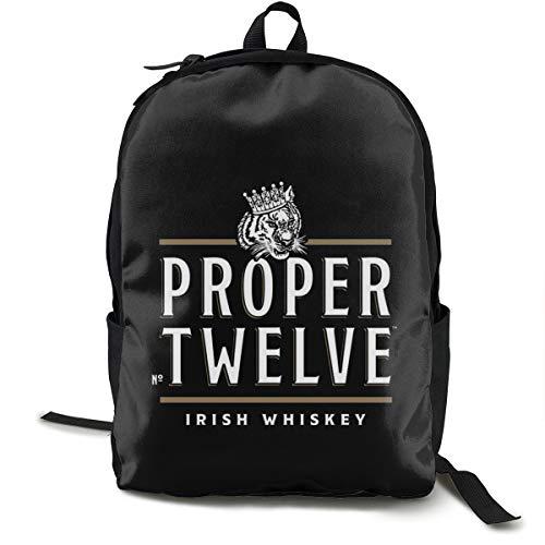 N / A Proper 12 Irish Whiskey Paket Klassischer Rucksack Schultasche Schwarze Tasche Arbeitsreise Zur Polyester Unisex Schule