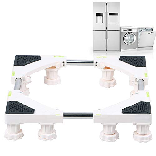Kylskåp, rullbotten justerbar med inbyggd nivå underlättar för tvättmaskin kylskåp