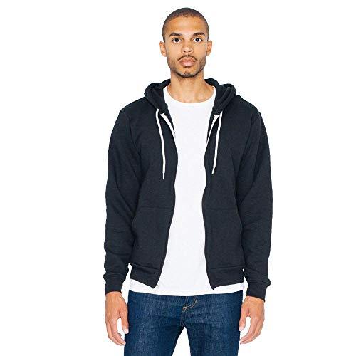 American Apparel - Unisex Flex Fleece Zip Hoodie/Black, S