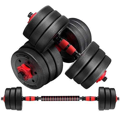 BBL Adjustable Dumbbell with Connecting Rod Male and Female Fitness Free Weight Lifting Dumbbell Set can be Used as a Barbell for Body Workout Home Fitness22lb44lb