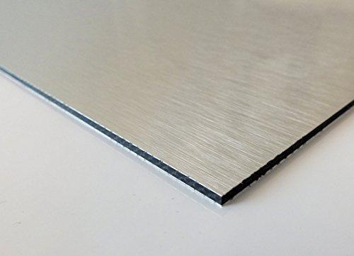 Cuadros Lifestyle Alu DiBond Platte   Butlerfinish   Edelstahl gebürstet   Ideal für Werbetafeln, Beschilderung, Displays   Messebau   Größe: 40x30 cm   Stärke: 3 mm