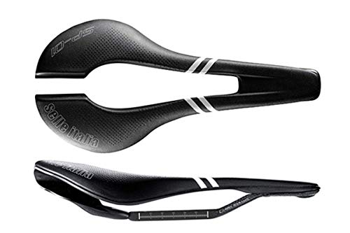 Selle Italia - Sella Bici da Corsa SP-01 Boost Kit Carbonio Superflow, Rail Carbon/Keramic Ø7x9, Sella Corta Road Perfomance Fibra-Tek Leggera, Comfort