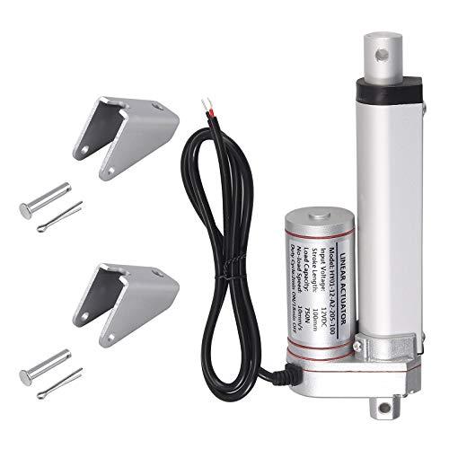 AUTOUTLET Actuador Lineal Motor de Actuador Lineal DC 12V 750N para el Abrepuertas Eléctrico del Auto RV del coche