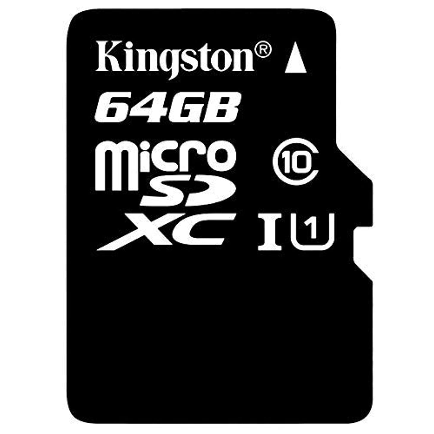 水銀の統合する拡張Professional Kingston 64GB BLU Studio Mega 2018 MicroSDXC Card with Custom formatting and Standard SD Adapter! (Class 10, UHS-I) [並行輸入品]