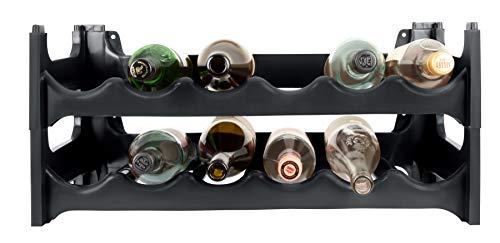 ARTECSIS Cantinetta Portabottiglie in Plastica Modulare 12 Bottiglie Antracite