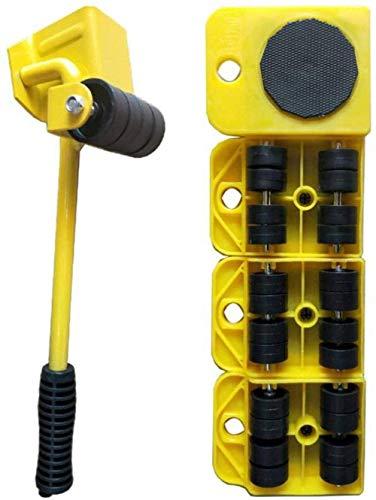 genneric 5Pcs Heavy Duty Möbel bewegen Rollen, 360-Grad-Universal-Rad-Arbeitssparende Tragerolle, ideal for die Garderobe/Waschmaschine/Trockner/Sofa (Color : Yellow)