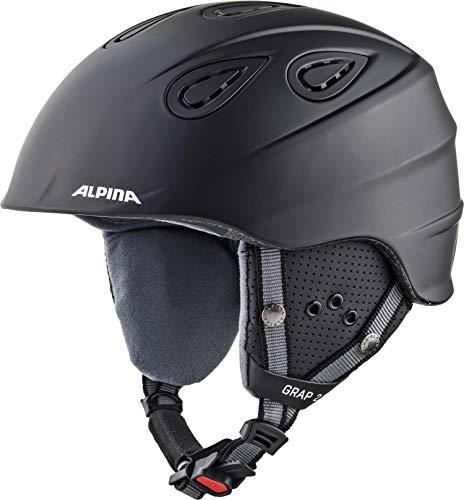 ALPINA GRAP 2.0 Skihelm, Unisex– Erwachsene, black matt, 61-64