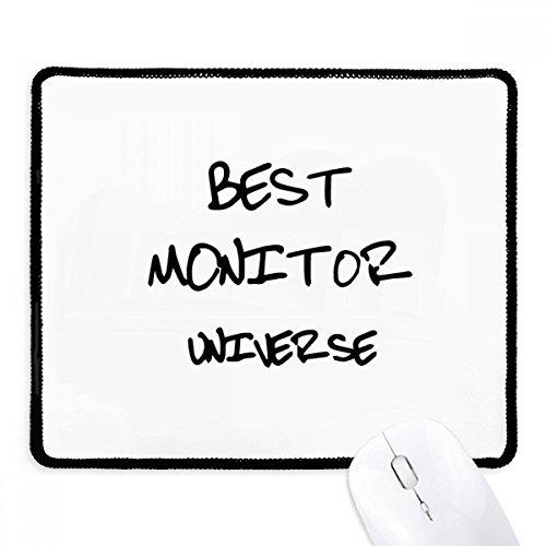 DIYthinker Beste Monitor Universum Afstudeerseizoen Antislip Mousepad Game Kantoor Zwart Titched Edges Gift