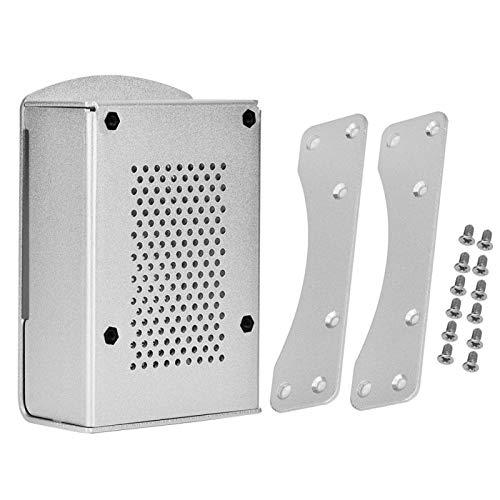 For Raspberry Pi 4 Model B Case For Raspberry Pi 4 Model B Black Aluminum Case Box Enclosure with Heatsink Bracket(Silver)