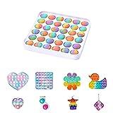 FIRFONMA Pop Bubble Sensory Fidget Toy Decomprimere Il Giocattolo Gioco del Cervello Intra...