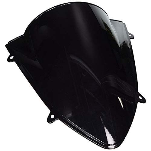 SODIAL Deflector de Parabrisas de Motocicleta para Kawasaki Ninja 250R 250R EX250 2008-2012 Accesorios de Motocicleta Negra