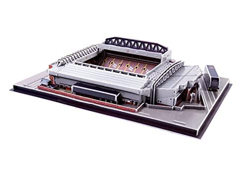 Yx-outdoor 3D-Puzzle-Fußball-Bausatz,Anfield-Stadion-Modell,Lernen und räumliche Intelligenz,Heimdekorationsgeschenke für Fußballfans (39 cm * 29 cm * 9,5 cm)