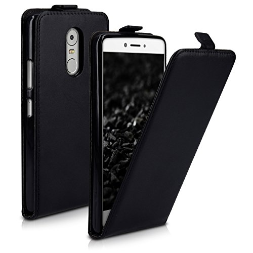 kwmobile Lenovo K6 Note Hülle - Handyhülle für Lenovo K6 Note - Schwarz - Handy Case Flip Schutzhülle