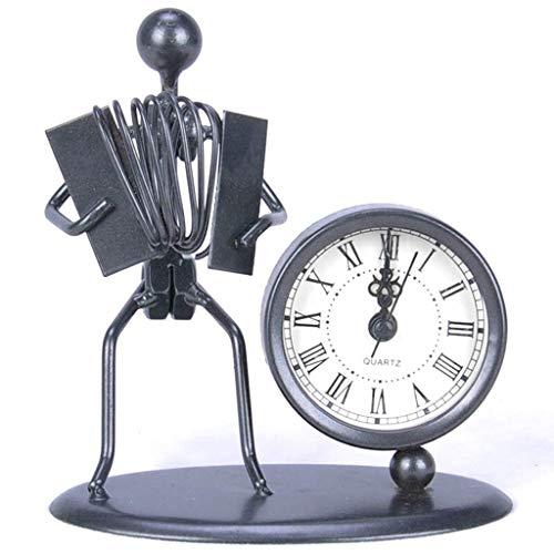 MUMUMI Alarma de Relojes, Reloj New Home Desk Table Creative Home Decoration Ornaments Artesanía Oficina Escritorio Suministros de Escritorio Alarma de Regalo,E