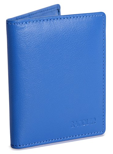 Saddler Tarjetero Doble Pliegue de 6 Ranuras - Azul Electrico