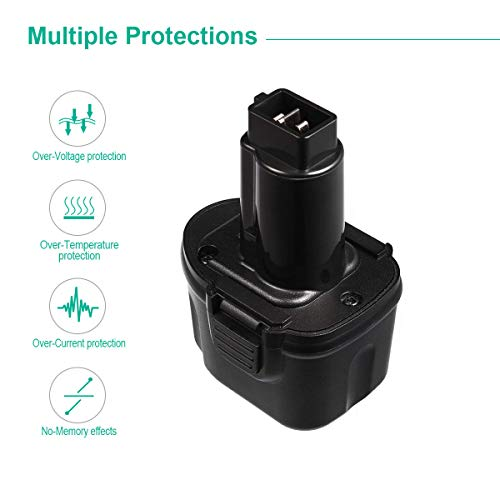 FirstPower DW9057 Compatible with Dewalt 7.2V Battery DW9057 DE9057 DE9085 DW920K DW920K2 DW925K DW925K2 DW968K 2-Pack