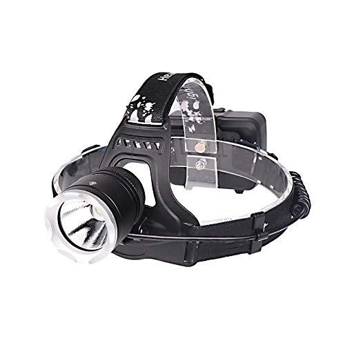 YHUISEN 1800LM XHP50 LED Faro 18650 Interfaz USB de la batería 3 Modos Impermeable Camping Senderismo Ciclismo Pesca Linterna Portátil Linterna