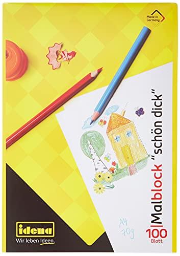 Idena 10390 - Idena Malblock , DIN A4, 100 Blatt, 70g/m², Schön Dick