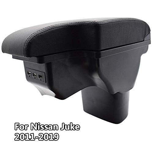 Caja De Almacenamiento De Reposabrazos para Nissan Juke/Infiniti ESQ 2011-2019, Organizador De Reposabrazos De Consola Central De Coche para Asiento De Coche, Reposabrazos De Cuero Impermeable