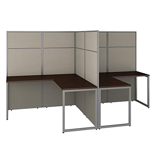 Bush Business Furniture Easy Office 2 Person L Shaped Cubicle...