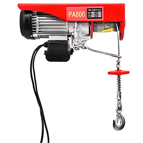 Wioihee 1800 LB Automatic Lift Electric Cable Hoist Electric Wire Hoist Winch Hoist with Remote Control Power System -Crane Lift 110V 40 Ft Lifting Height