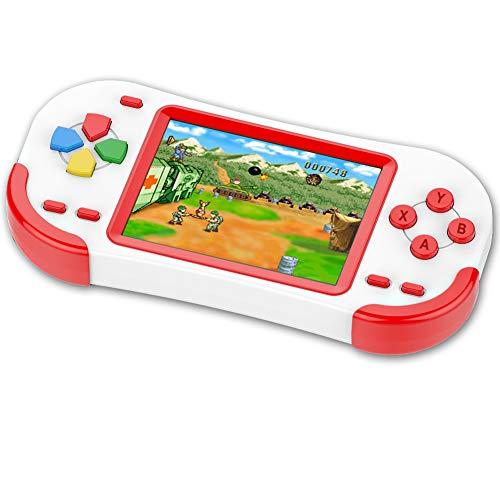 ZHISHAN Console di Gioco Portatile per Bambini con 220 Videogiochi Classici Integrati 3.0' LCD Schermo Sistema di Gioco Elettronico Ricaricabile per Adulto Compleanno e Regalo di Natale-Verde