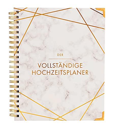 Hochzeitsplaner Deutsch Organizer Buch & Hochzeit Kalender Marmor Design Gold - German Wedding Planner