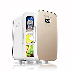 WUQIAO Petit réfrigérateur de Voiture à la Maison Double température Porte Simple 13.5L Grande capacité 12V Refroidissement Puissant