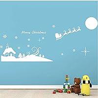 メリークリスマストナカイそり引用ウォールステッカー部屋の装飾051。diyビニールギフトホームデカールフェスティバルミュールアートポスター3.5