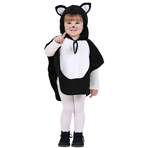 NET TOYS Süßes Katzen Kostüm Katzenkostüm Kinder 98 cm 1-2 Jahre Kinderkostüm Katze Babykostüm Mieze Baby Poncho Kätzchen Tierkostüm für Mädchen