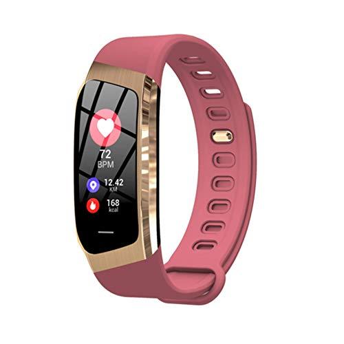 QY-Youth Pulsera Inteligente Hombres/Mujer Smart Watch Fitness Activity Tracker Pulsera Presión Arterial Monitor de Ritmo cardíaco Banda Inteligente,Rojo