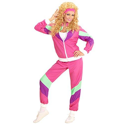 NET TOYS 80er Jahre Trainingsanzug Tussi Jogginganzug XL (46/48) Polyester Anzug Damen Bad Taste Verkleidung