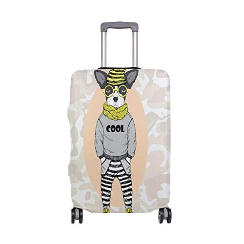 Luggage Cover Cool Hippy Suitcase Protector Baggage Fits 19-39 Inch,Size:XL