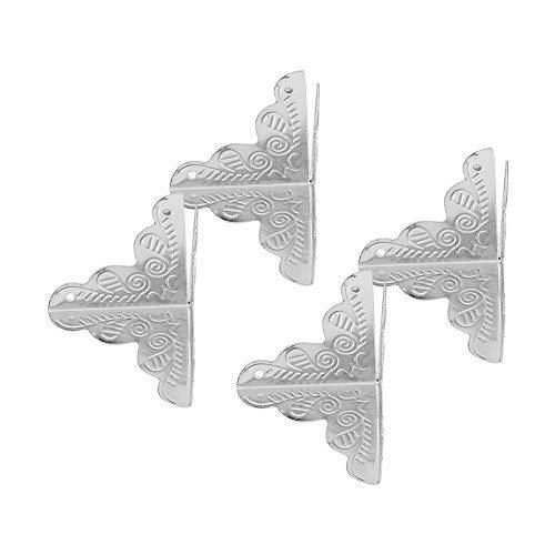 Zerodis 12 stks Vintage Metaal drie zijden Hoek Decoratieve Beschermers Iron Edge Cover Guard met Schroeven voor Sieraden Gift Box Picture Frame