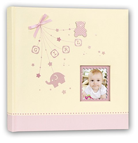 ZEP as2420p Collection Baby Alison traditioneel fotoalbum met 40 pagina's ivoor/roze 24 x 24 cm