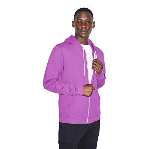 American Apparel Unisex Flex Fleece Long Sleeve Zip Hoodie, dark orchid, Small