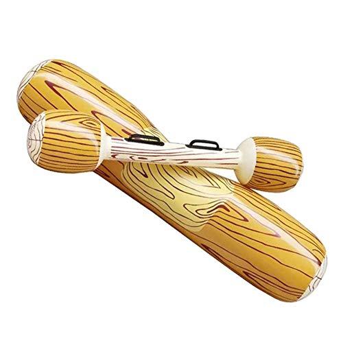 laoonl 4 piezas inflables para piscina, juguetes flotantes, barras de asiento inflables de madera para niños y adultos