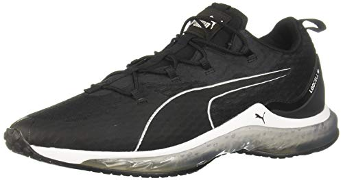 PUMA Men's LQDCELL Hydra Sneaker, Black White, 9.5 M US